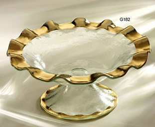 Annie Glass Ruffle Footed Bowl collection with 1 products